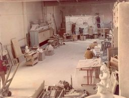 The traditional marble workshop