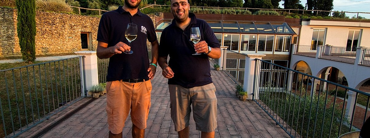 Riccardo and Mirko, Tuscan winemakers