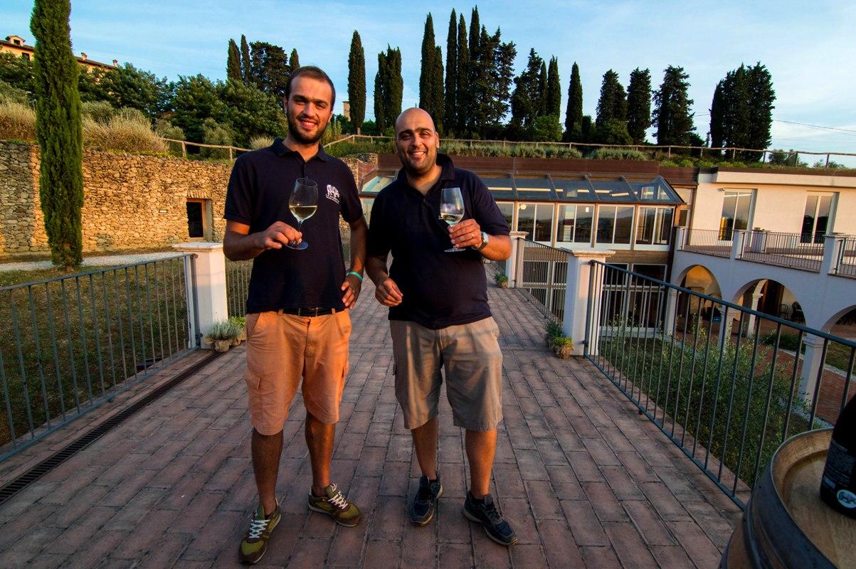 Riccardo and Mirko, Tuscan winemakers