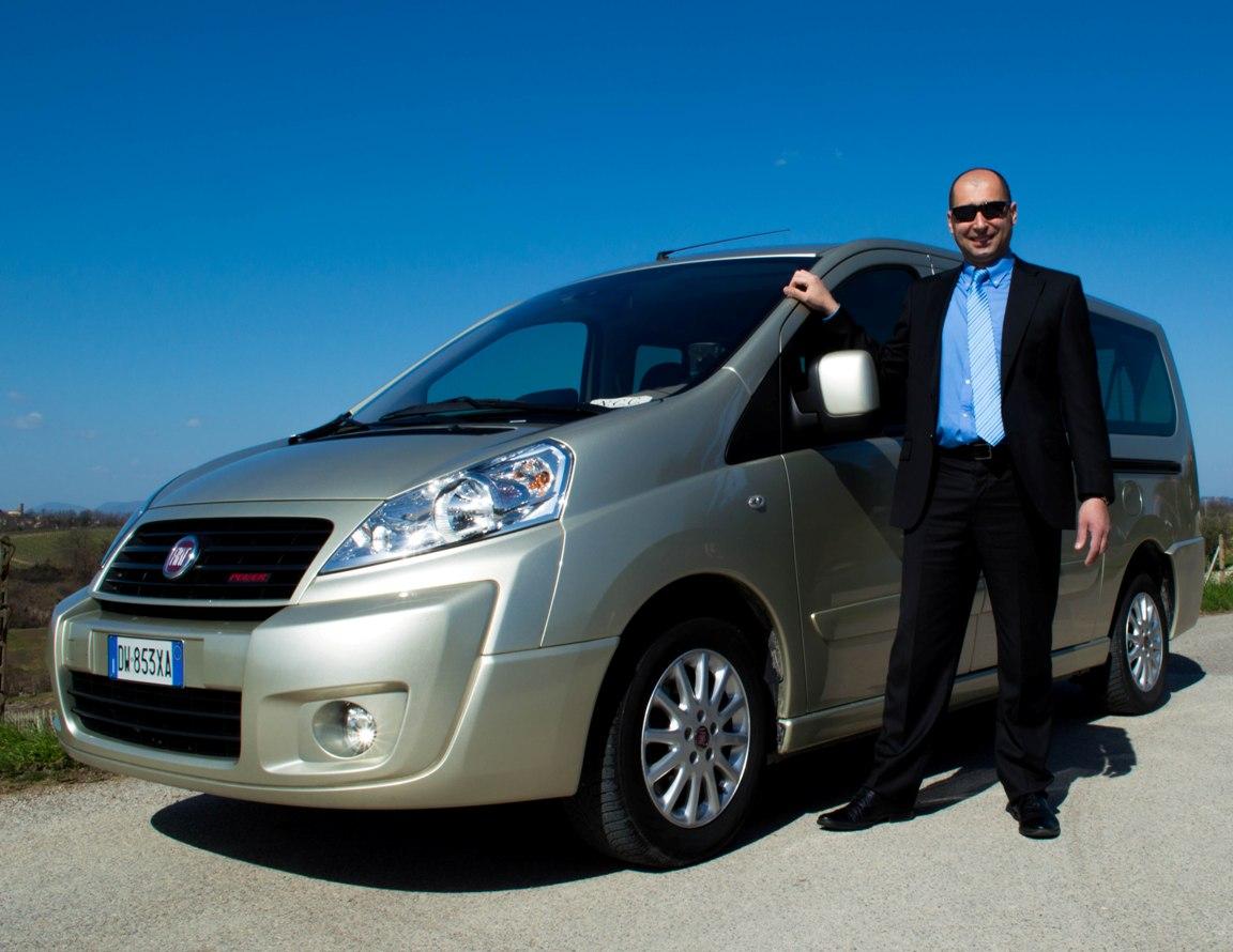 Luxury van and driver