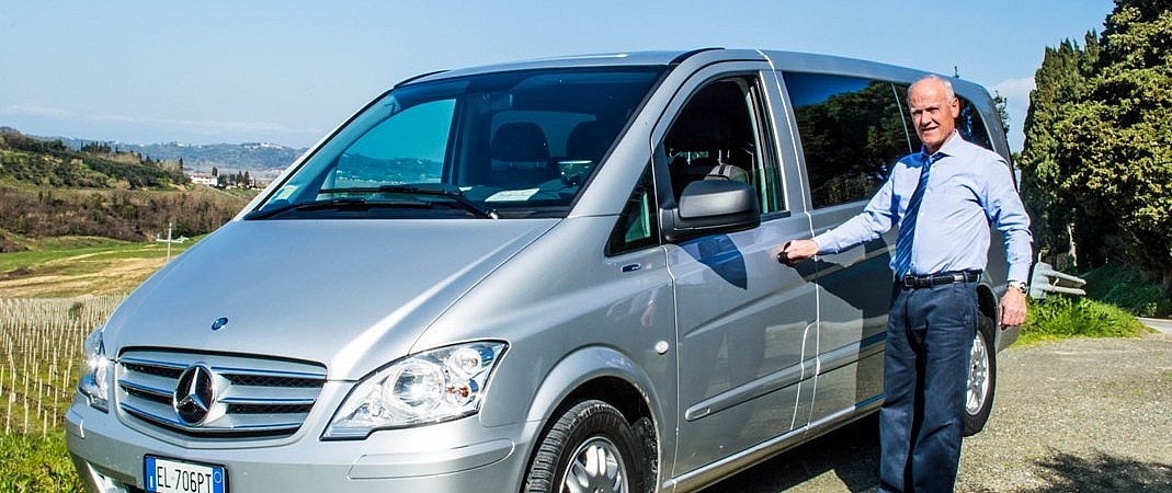 Luxury Mercedes Vito with driver
