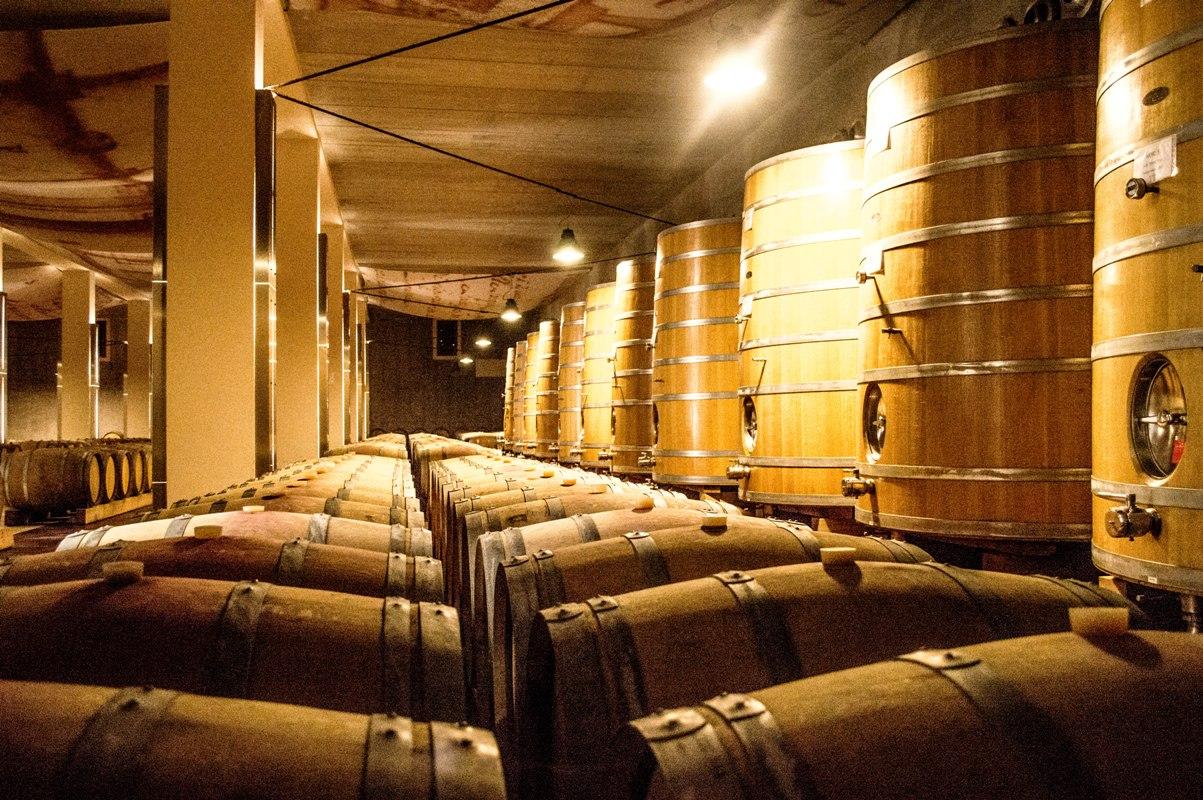 Wine in oak