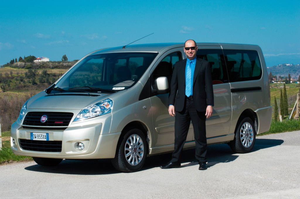 Luxury van and driver in Tuscany