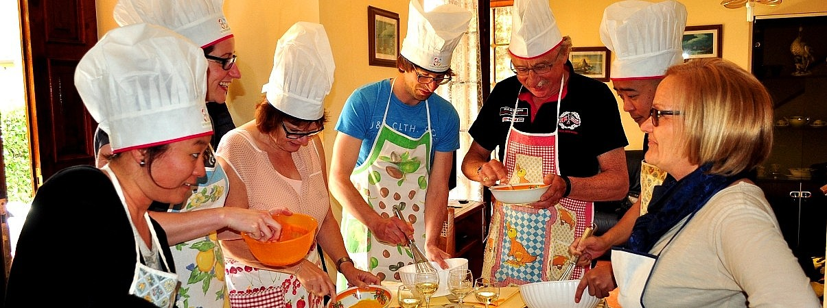 In-home cooking class in Tuscany