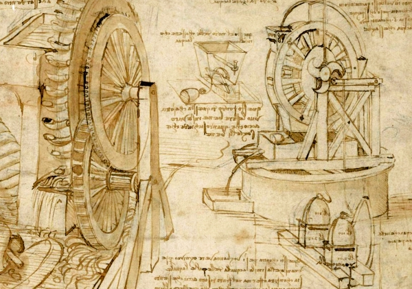 Leonardo's technical sketches
