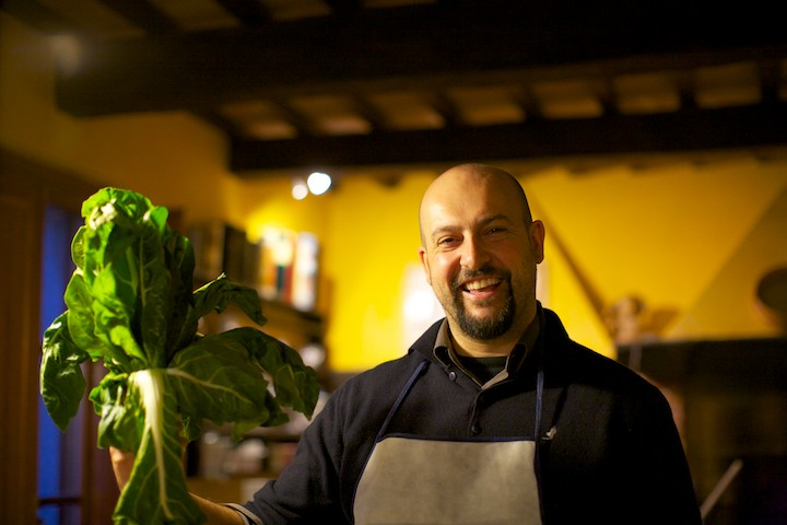 Massimo, our host from Arianna & Friends for cooking at the Villa