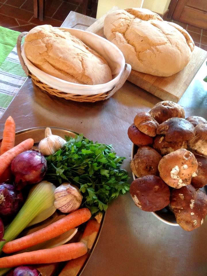 Vegetables and porcini mushrooms