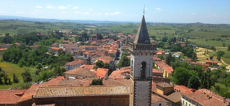 The view from the tower of the castle of Vinci