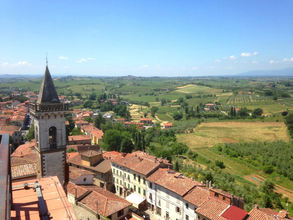 View from the castle of Vinci