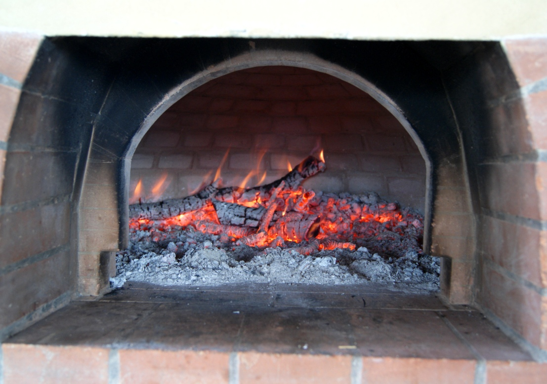 Charcoal in the oven