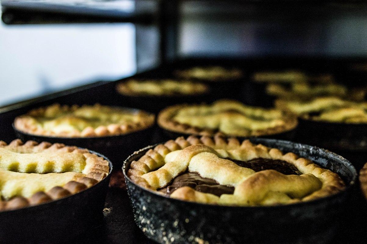 Baked mini crostatas