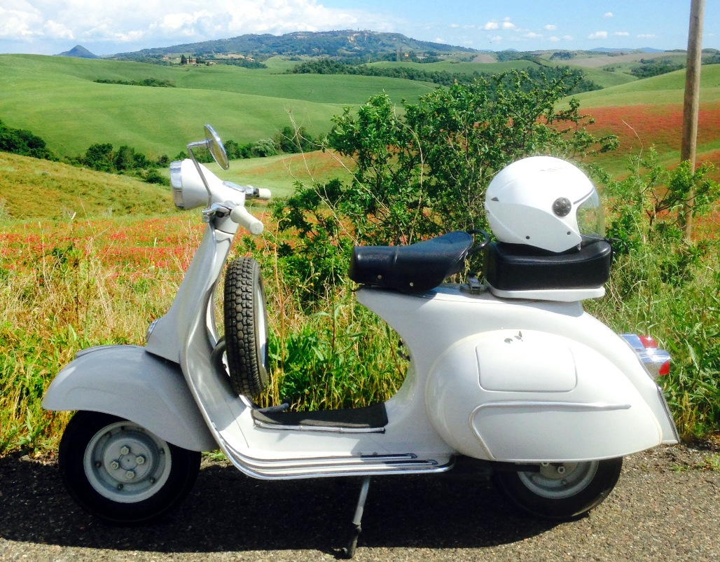 A model of vespa from 1963