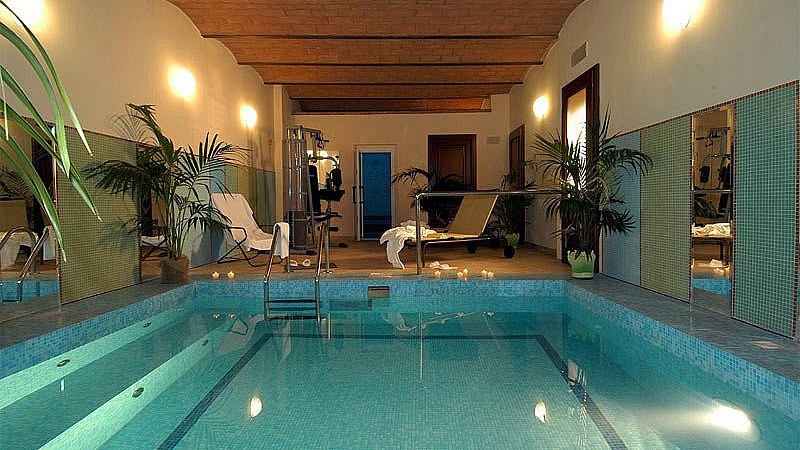Internal pool in a Tuscan boutique hotel