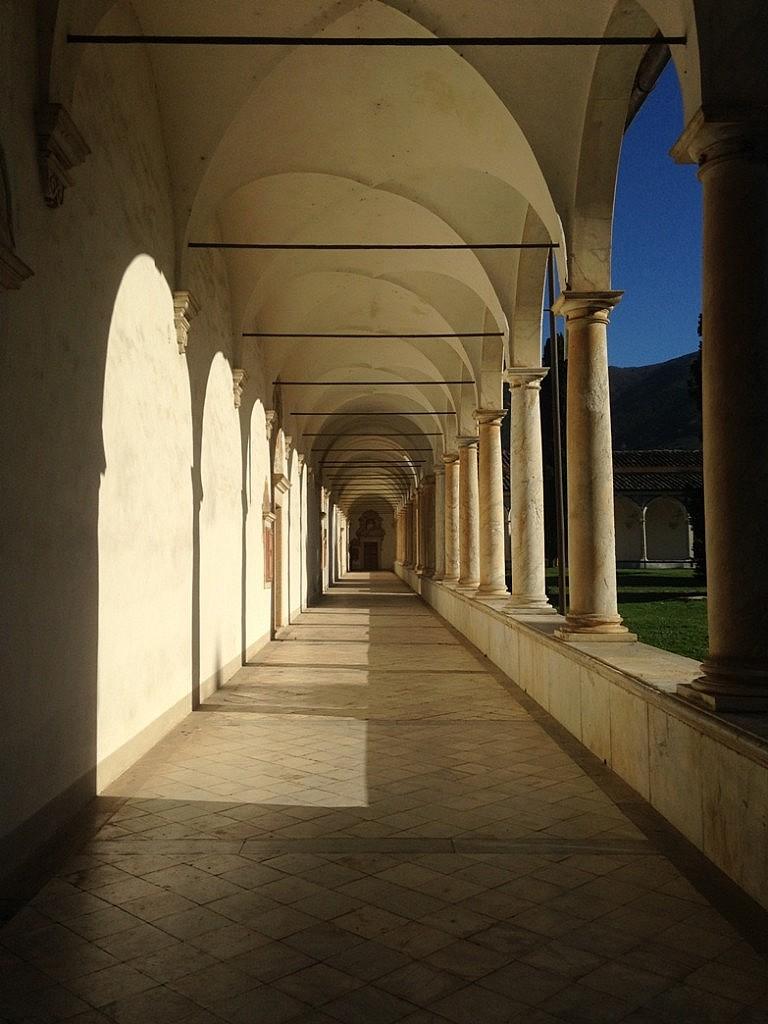 Colonnato in the charterhouse of Calci