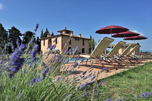 Villa with pool and garden near Volterra