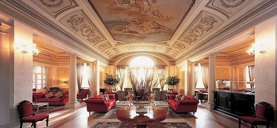 Relaxing lounge of a luxury hotel in Pisa