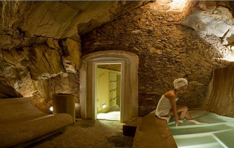 Turkish bath with natural hot steam in Tuscany