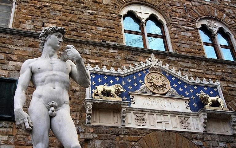 David statue in Piazza della Signoria in Florence