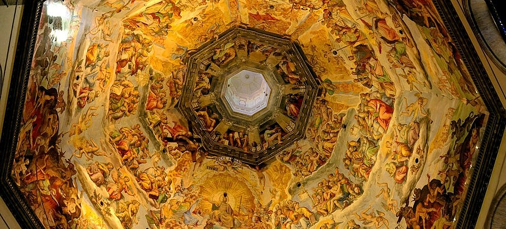 Frescoes in the dome of Brunelleschi