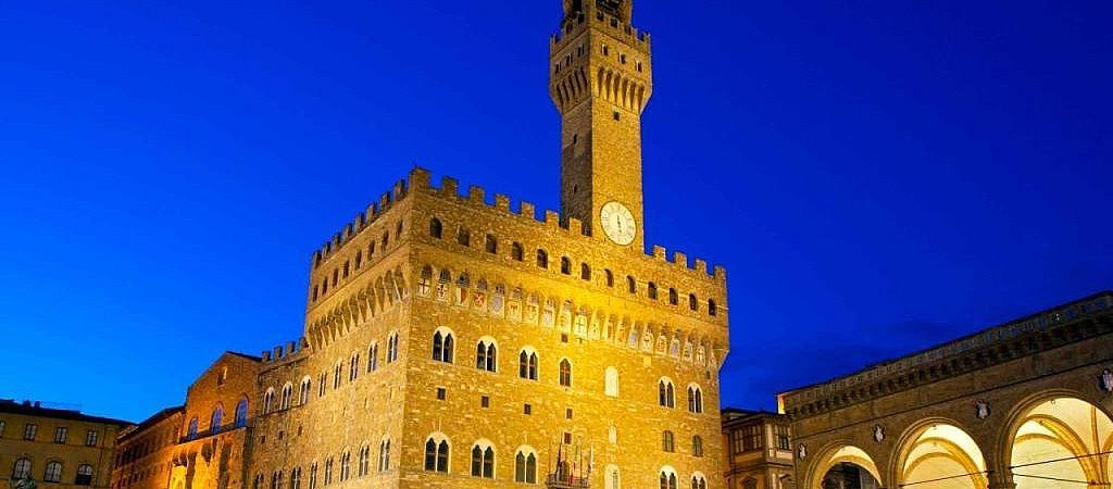 Evening in Piazza della Signoria in Florence