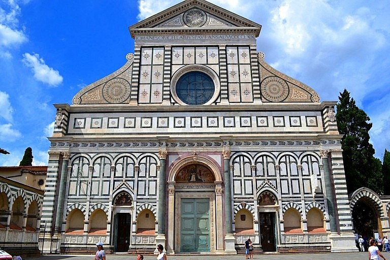 Santa Maria Novella church marble facade