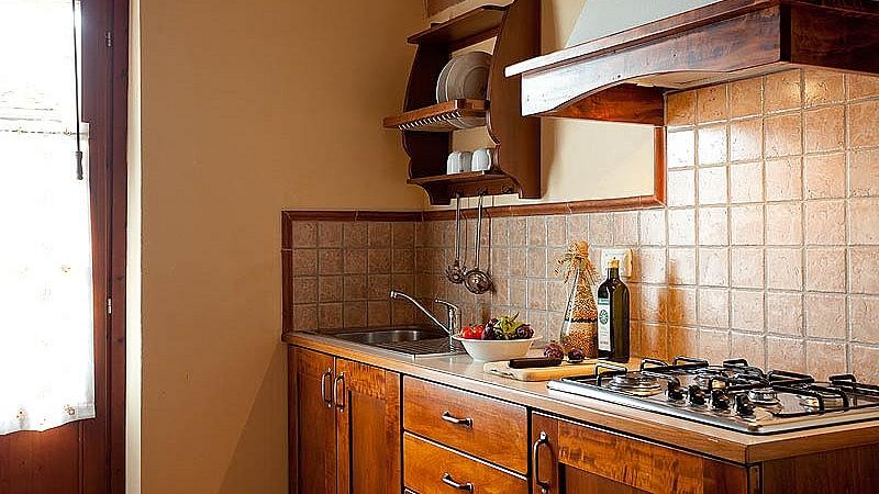 Kitchen in Tuscan agriturismo