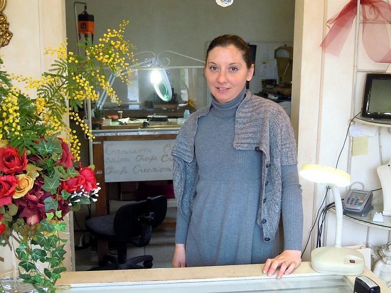 Cinzia in her atelier