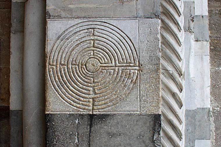 The labyrinth in the church of San Martino in Lucca