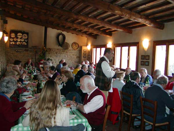 Restaurant of an organic cheese farm near Volterra