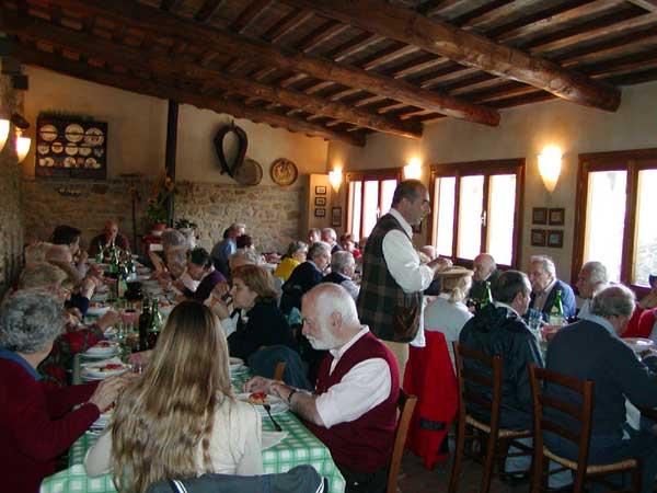 Restaurant of an organic cheese farm near Volterra