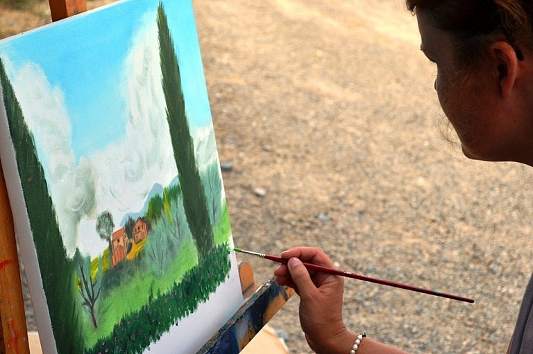 Private painting class in Tuscany