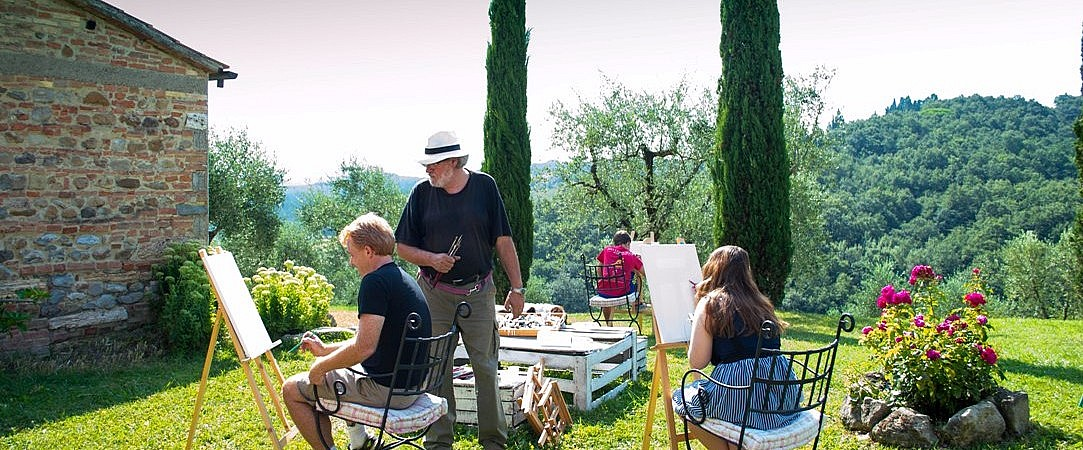 Private lesson with a local painter in Tuscany