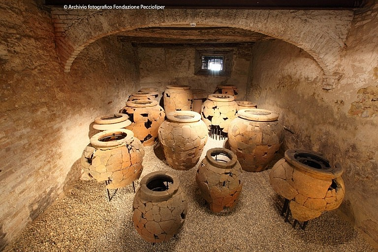 Large pots of the Archaeological Museum in Peccioli