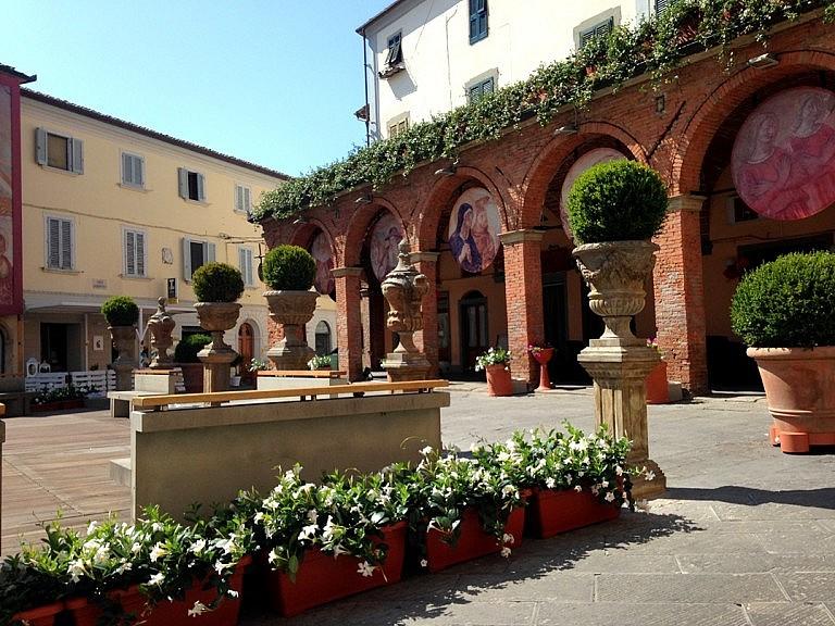 Loggia in the main square of Peccioli