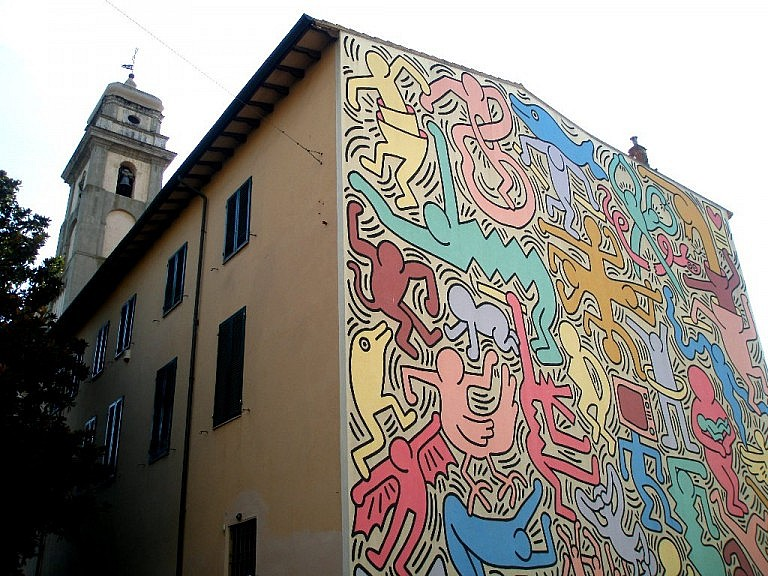 The Keith Haring graffiti in Pisa