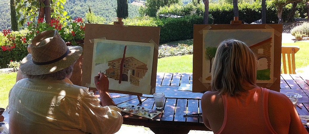 Private painting class at your villa in Tuscany