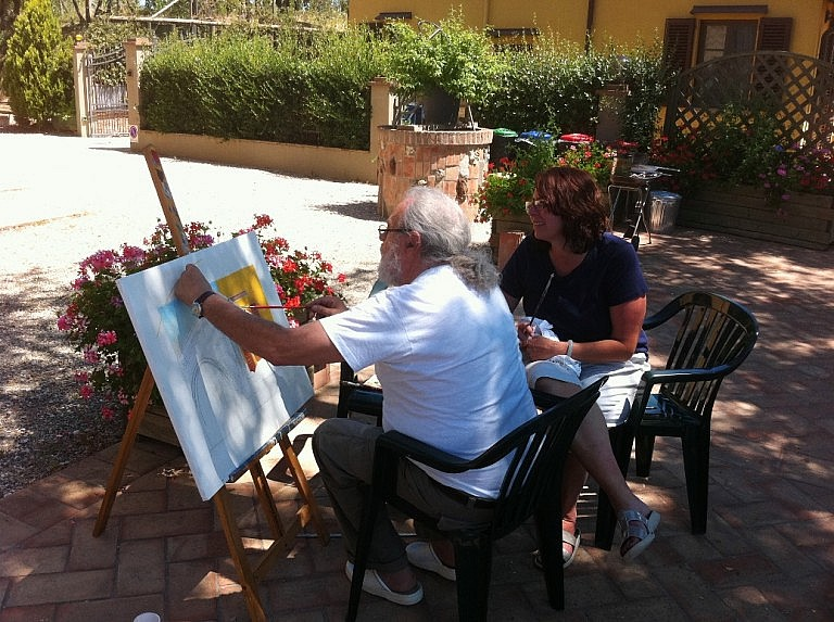 Private painter for a class during your Tuscan stay