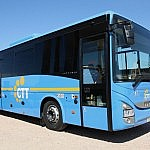A bus of CTT Nord, serving the area of Pisa and Volterra
