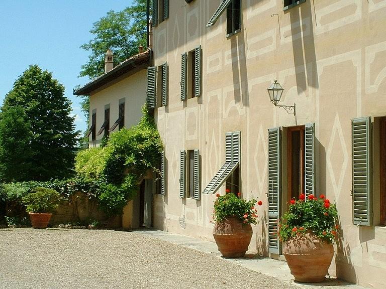 Main villa of a wine estate near Florence