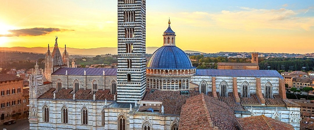 View of the cathedral of Siena