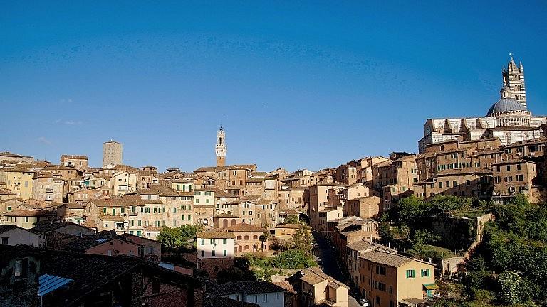Panoramic view of Siena