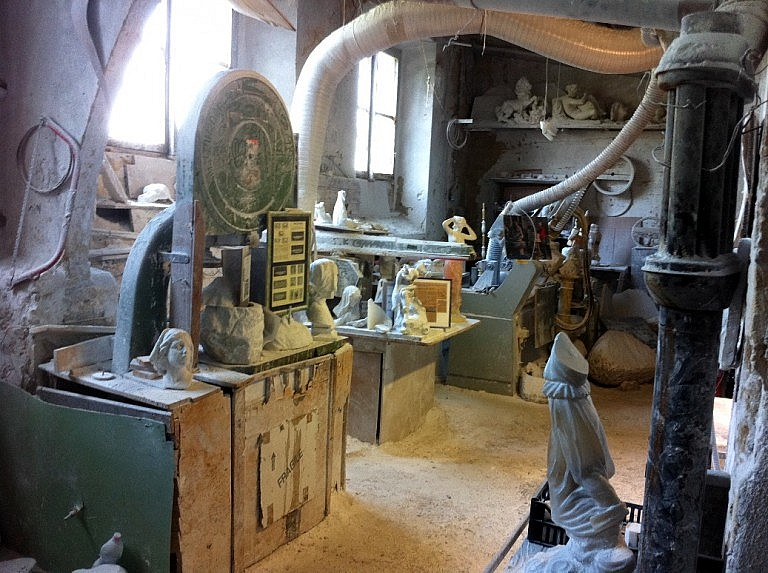Equipment in an alabaster workshop in Volterra