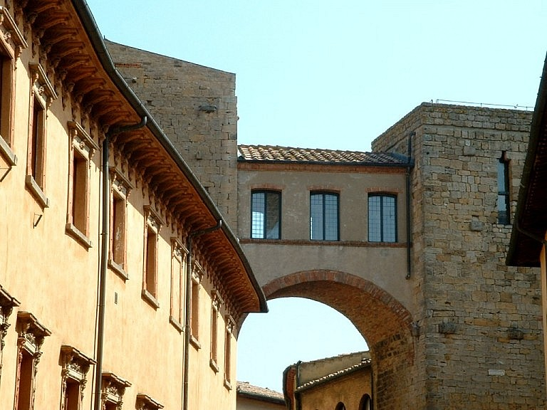 Old medieval towers in Volterra