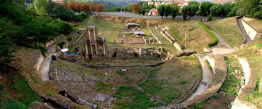 The Roman theater in Volterra