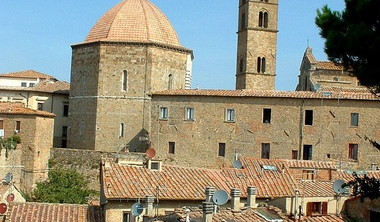 The cathedral, baptistry and bell tower of Volterra
