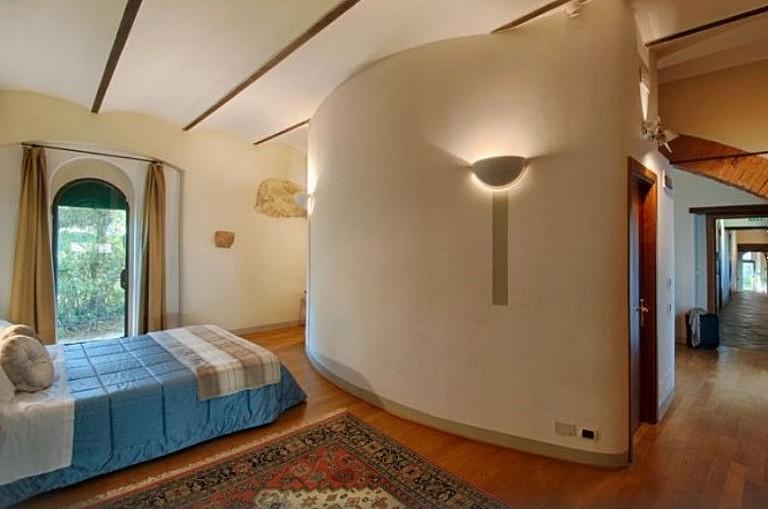 Elegant bedroom with parquet
