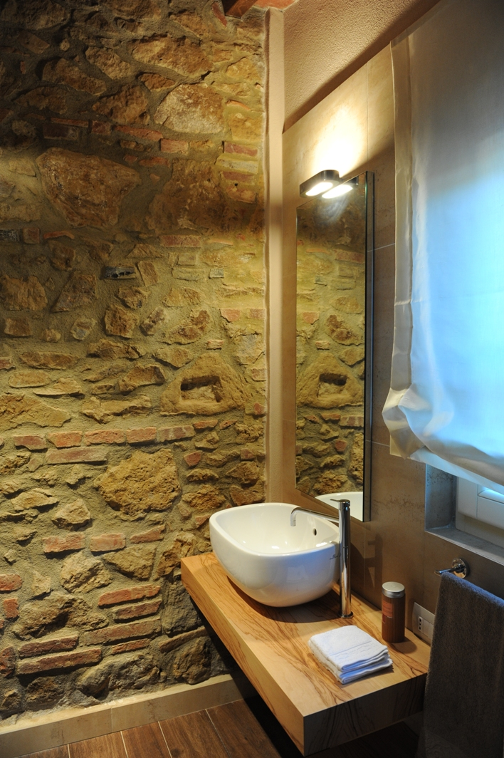 Small bathroom in country cottage