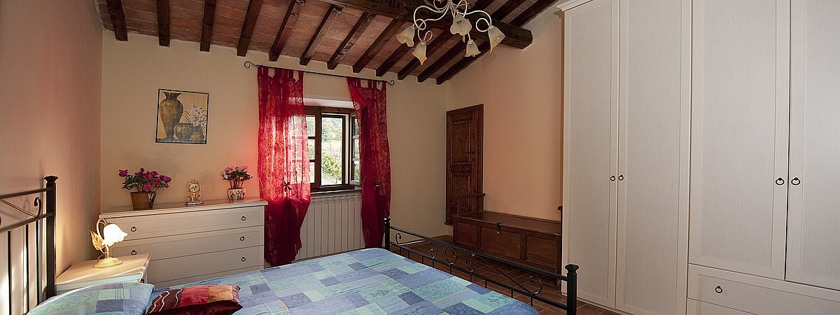 Bedroom & contemporary furniture in Tuscan chalet