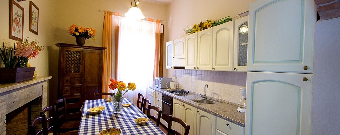 Kitchen in villa near Casciana Terme