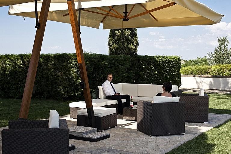 Comfortable garden with gazebo